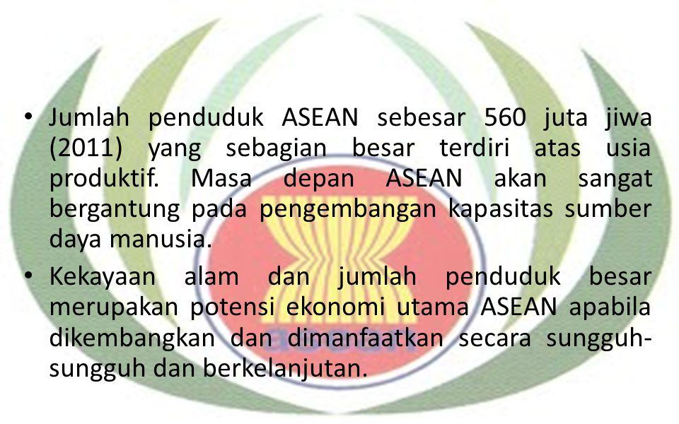 Jumlah penduduk ASEAN sebesar 560 juta jiwa (2011) yang sebagian besar terdiri atas usia produktif. Masa depan ASEAN akan sangat bergantung pada penge
