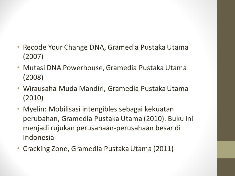 Rumah Perubahan Berdiri: 07 September 2007 Didirikan oleh Rhenald Kasali Sponsor: Bank Mandiri, Bank Jabar Banten, Bank BNI, Yamaha, Astra International, Gramedia, ISS, dll.