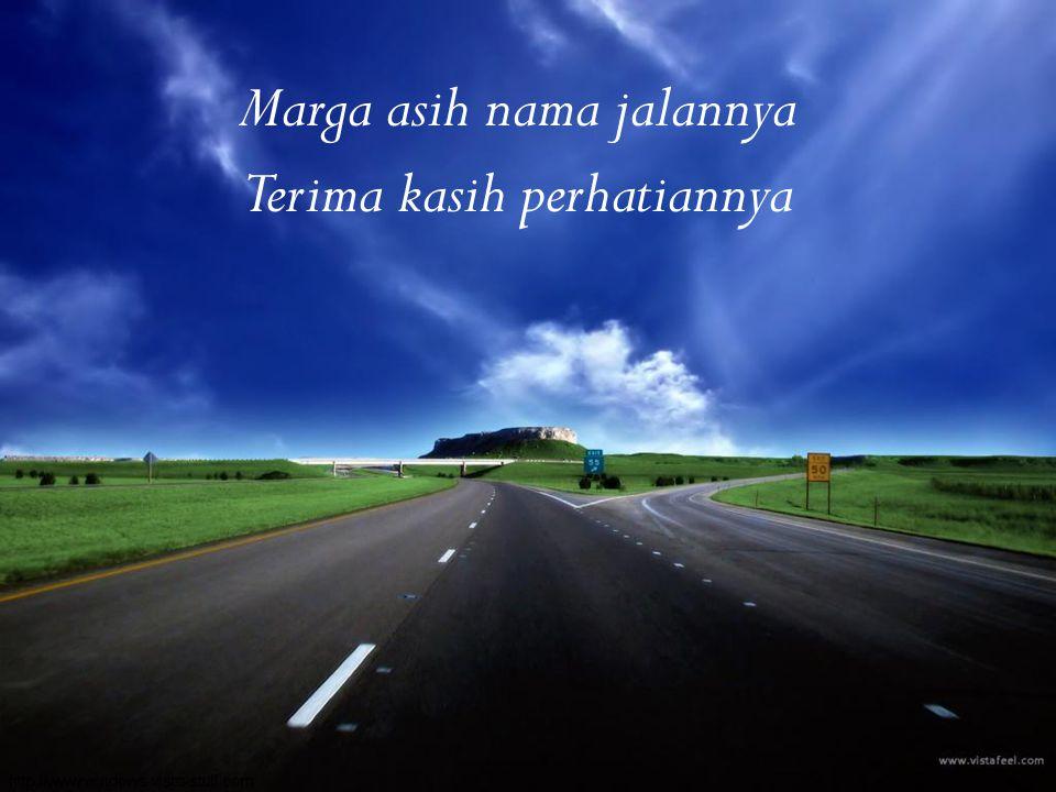 Marga asih nama jalannya Terima kasih perhatiannya Marga asih nama jalannya Terima kasih perhatiannya