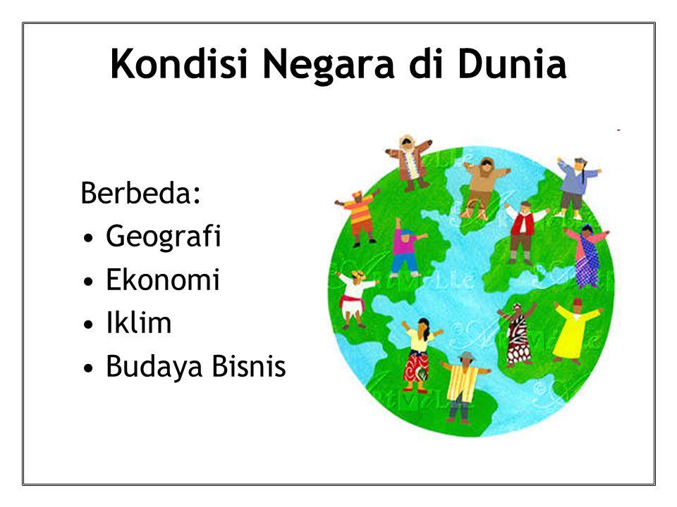Kondisi Negara di Dunia Berbeda: Geografi Ekonomi Iklim Budaya Bisnis