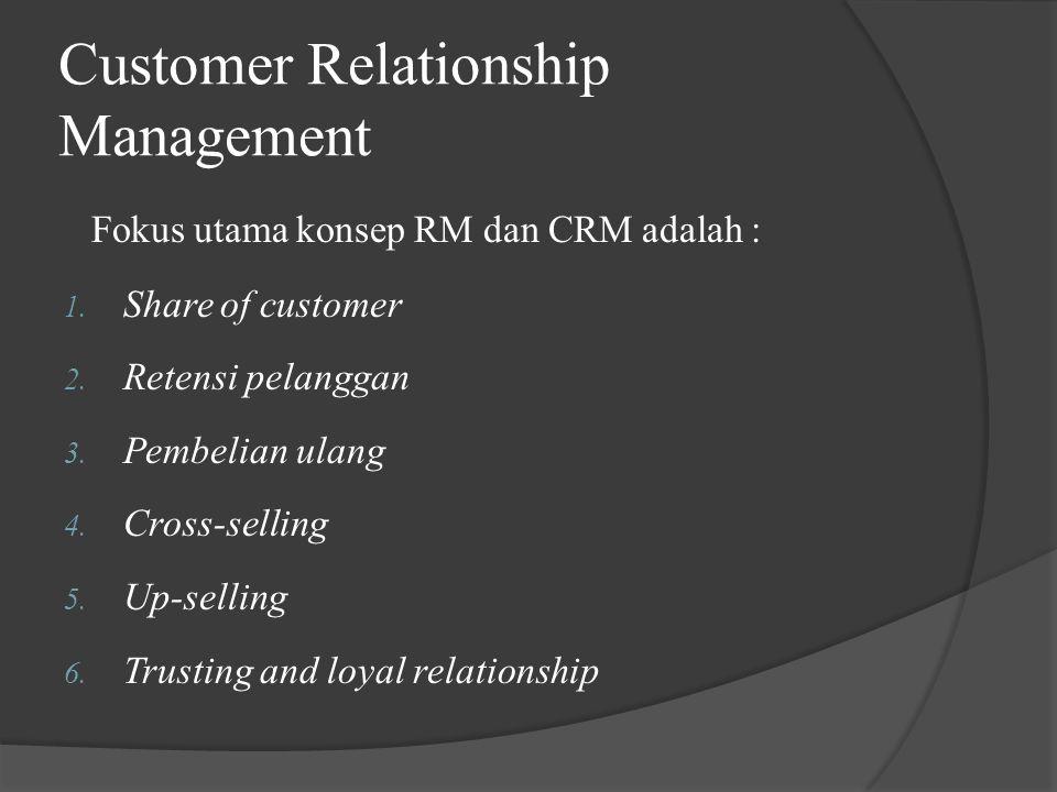 Proses CRM meliputi tiga langkah krusial 1.