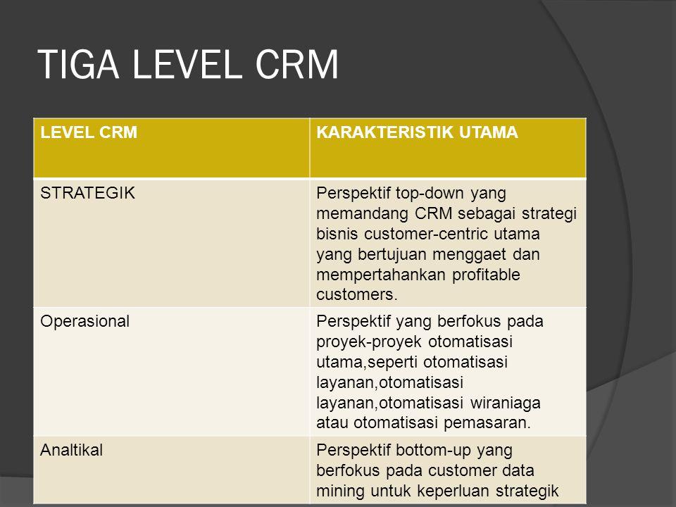 Implementasi CRM menjanjikan sejumlah manfaat utama yaitu : 1.