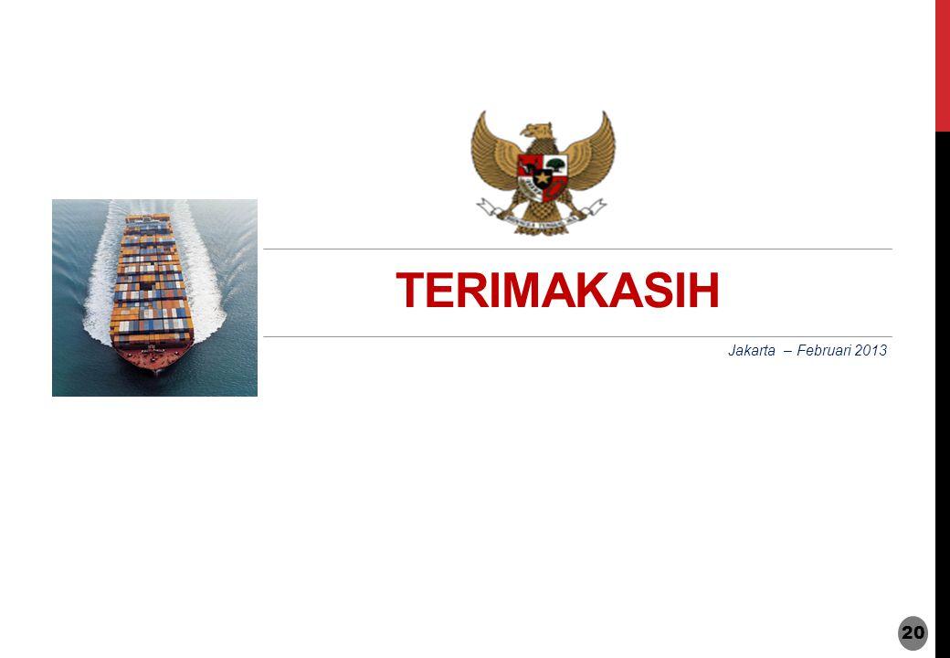 TERIMAKASIH Jakarta – Februari 2013 20