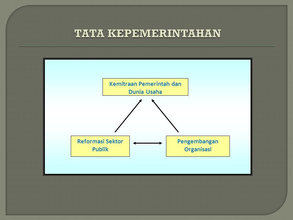 Kemitraan Pemerintah dan Dunia Usaha Reformasi Sektor Publik Pengembangan Organisasi