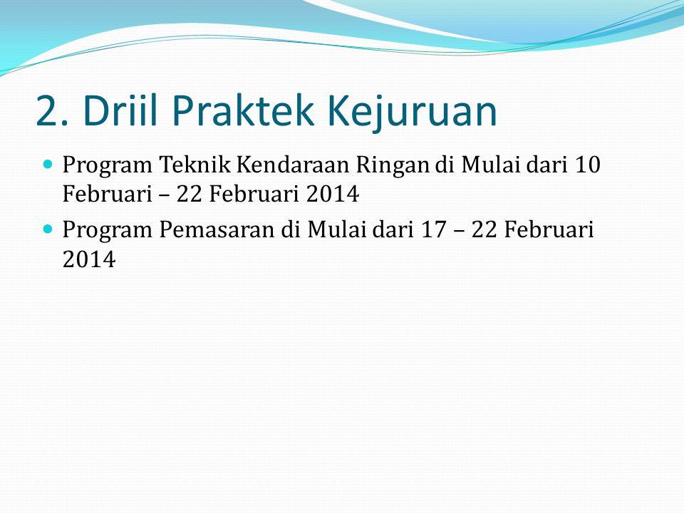 1. Tambahan Jam Pelajaran Tanggal 13 Januari 2014 – 29 Maret 2014
