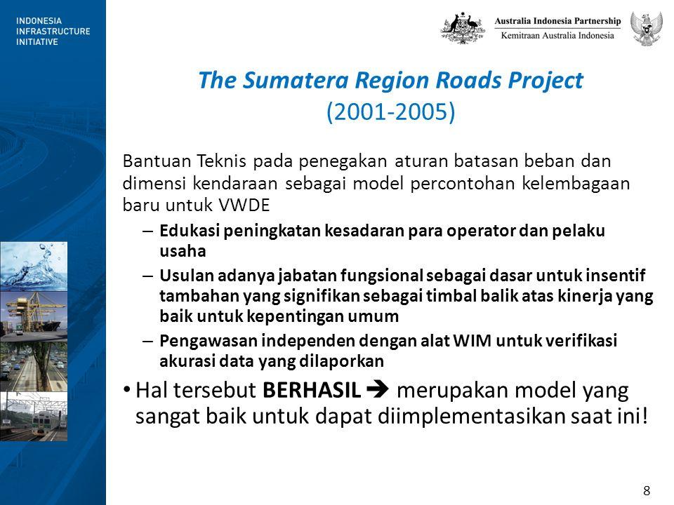 8 The Sumatera Region Roads Project (2001-2005) Bantuan Teknis pada penegakan aturan batasan beban dan dimensi kendaraan sebagai model percontohan kel