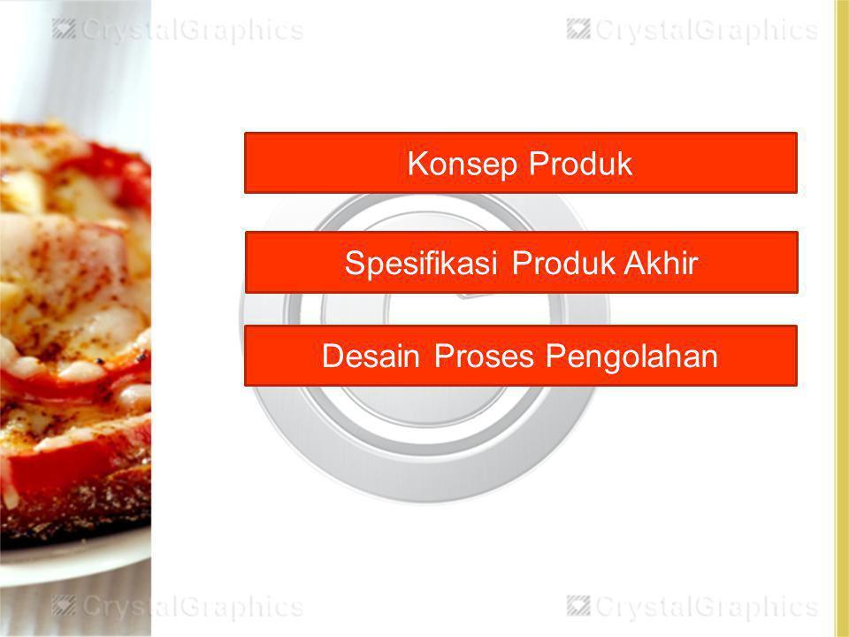 Konsep Produk Spesifikasi Produk Akhir Desain Proses Pengolahan