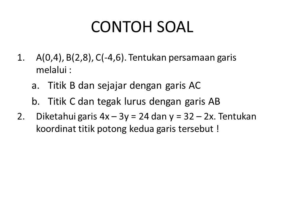 CONTOH SOAL 1.A(0,4), B(2,8), C(-4,6).