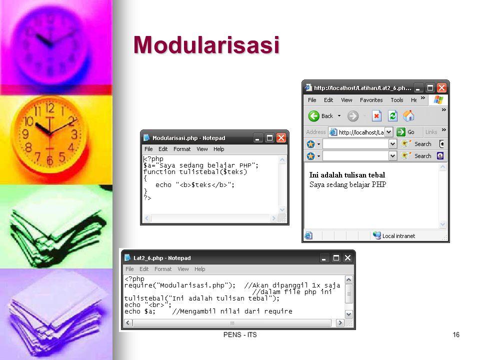 PENS - ITS16 Modularisasi