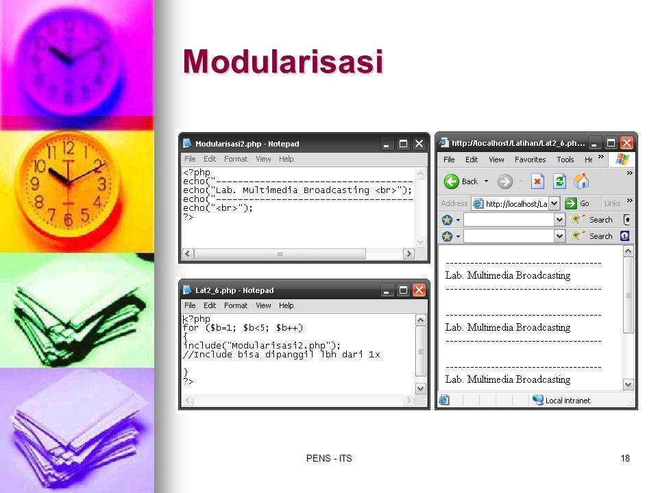 PENS - ITS18 Modularisasi