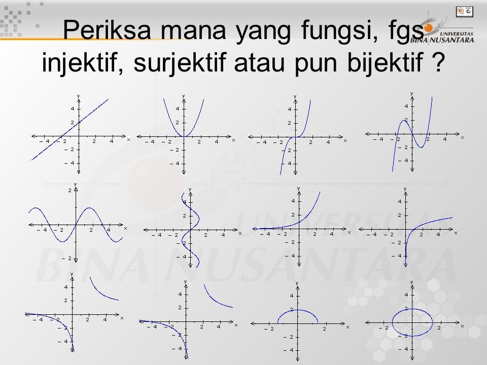 Syarat Fungsi Komposisi Jika f:A  B dan g:B  C, maka tidak selamanya g o f ada.