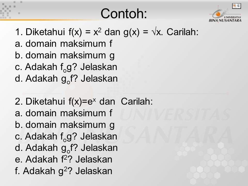 Beberapa Teorema Teorema Fungsi Injektif Jika f:X  Y dan g:Y  Z masing-masing adalah fungsi injektif, maka g o f adalah fungsi injektif.