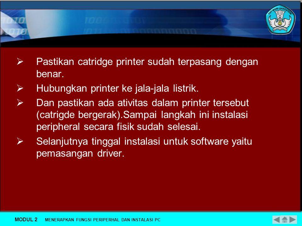 Gambar 5. Konektor Printer USB MODUL 2 MENERAPKAN FUNGSI PERIPERHAL DAN INSTALASI PC