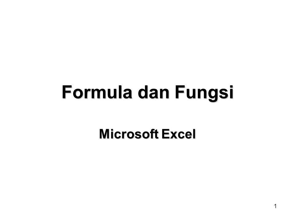 1 Formula dan Fungsi Microsoft Excel