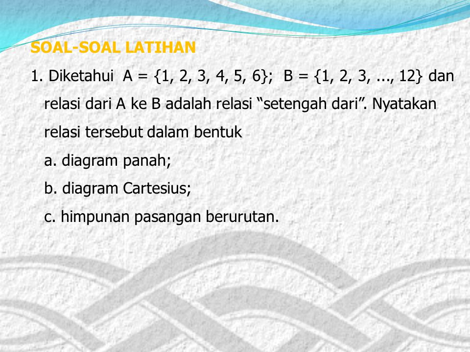 4 disebut bayangan (peta) dari 2 dan juga dari – 2. 4 disebut bayangan (peta) dari 2 dan juga dari – 2. – 2 dan 2 disebut prapeta dari 4, dan dilamban