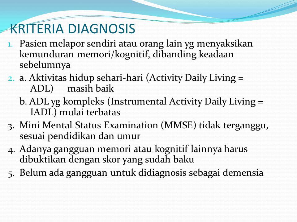 KRITERIA DIAGNOSIS 1.