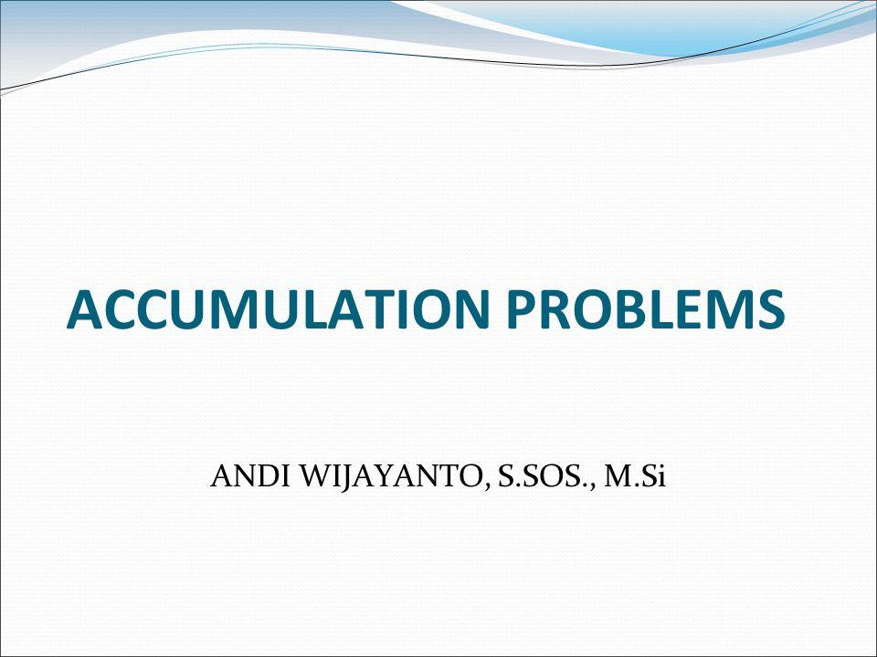 Simple Accumulation Problems EXAMPLE 5 Jika anda memiliki deposit $300 per bulan (mulai hari ini) dengan tingkat bunga 1% per bulan, berapa banyak uang yang anda miliki setelah 2 tahun.