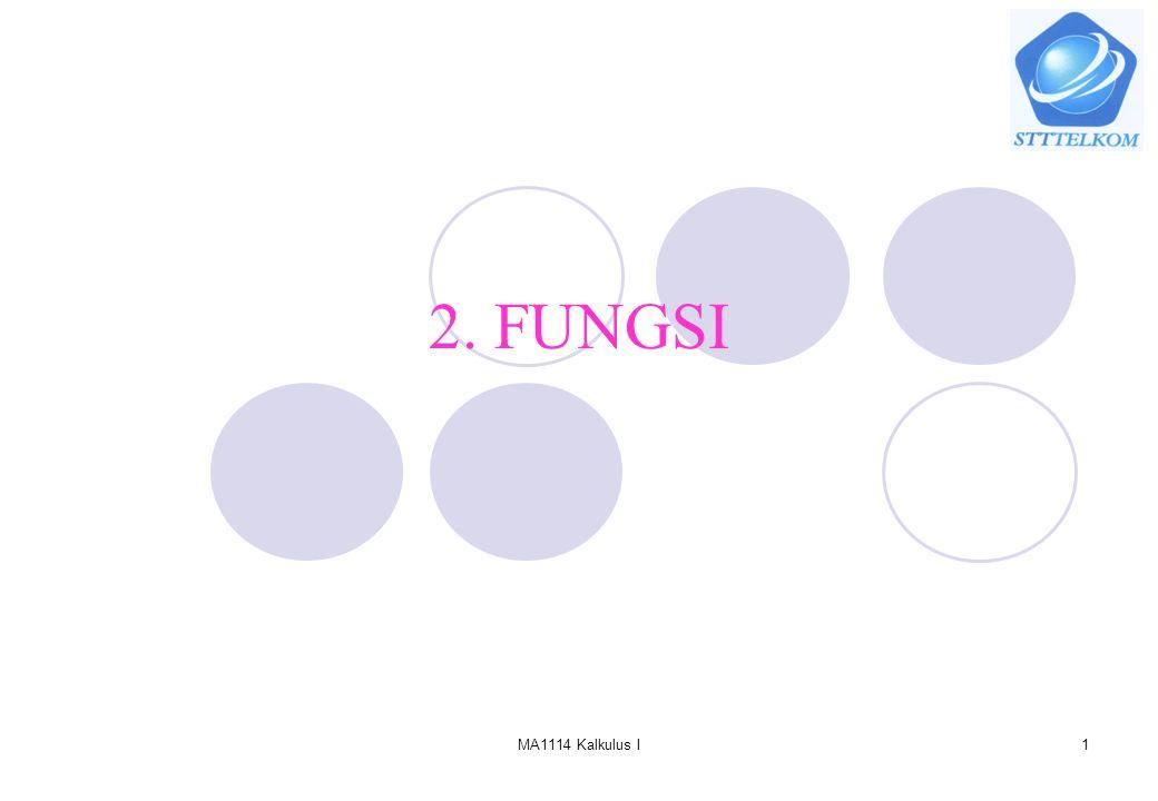 MA1114 Kalkulus I1 2. FUNGSI