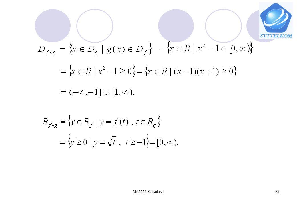 MA1114 Kalkulus I23