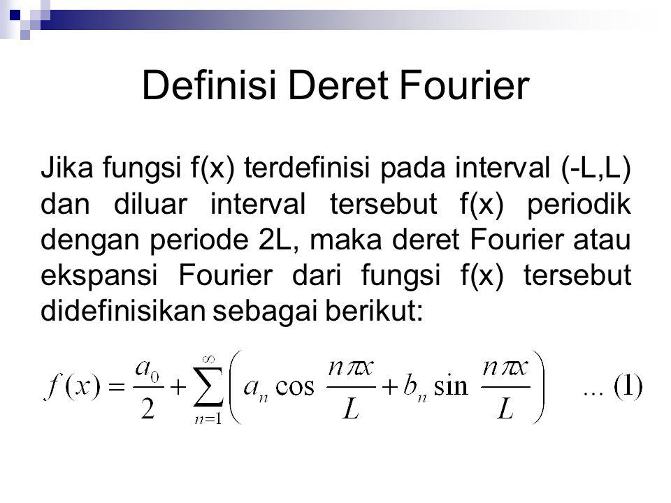 dengan koefisien Fourier a n, b n ditentukan oleh: