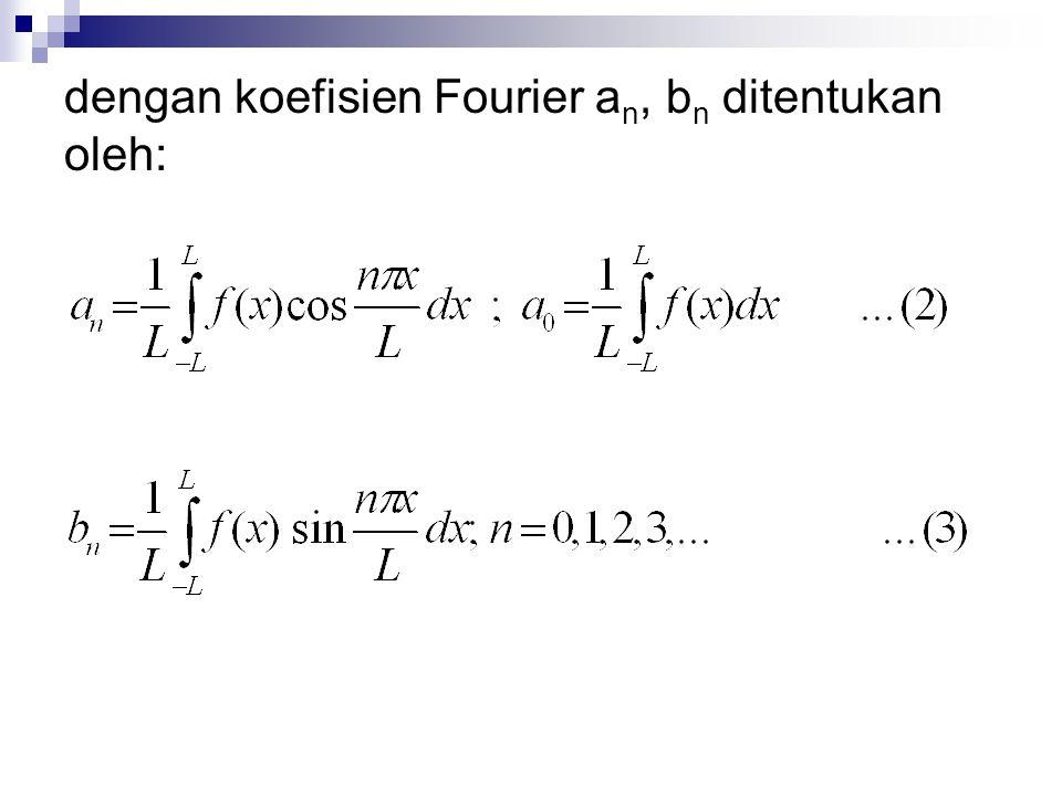 Jika interval (-L,L) sembarang dan f(x) mempunyai periode 2L maka dengan C sembarang bilangan real.