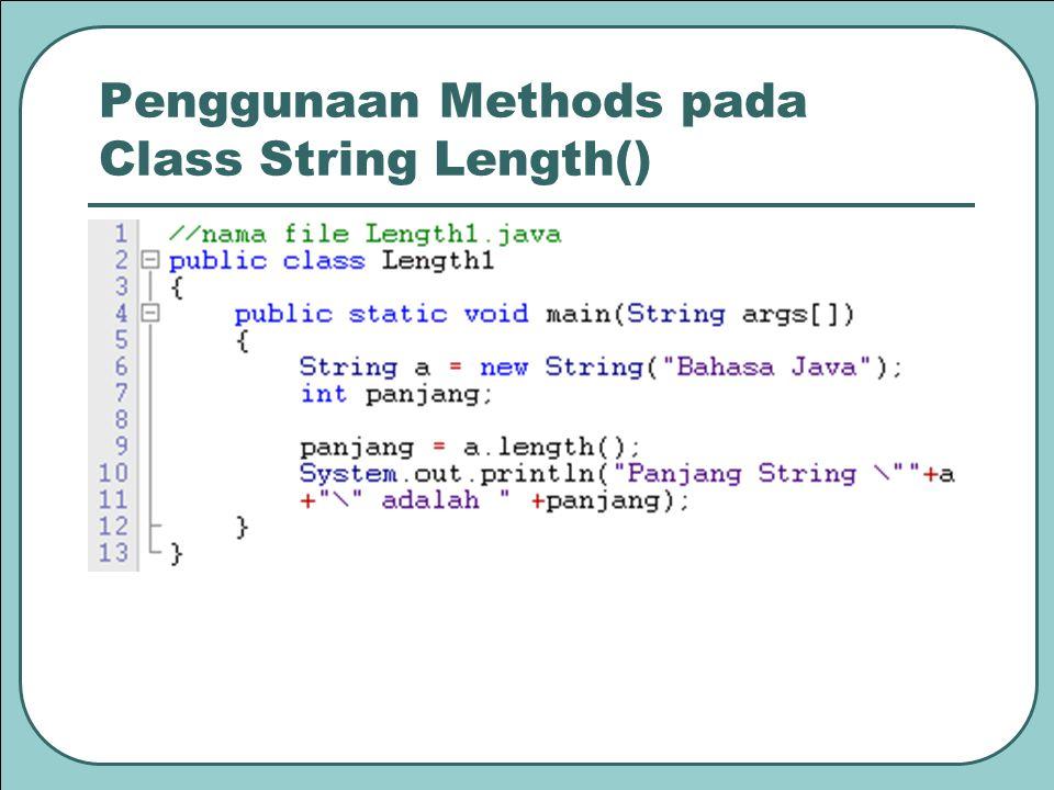 Hasilnya Catatan : Fungsi atau metode insert(x,y) dipakai untuk menyisipkan karakter atau string yg terdapat pada y ke suatu string pada posisi x.