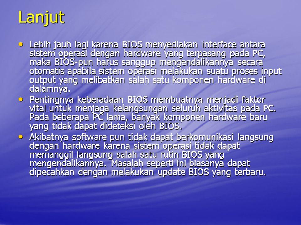 Video BIOS Shadow Fungsi: Jika diaktifkan meng ‑ copy BIOS graphic card dari ROM yang lambat ke RAM PC yang cepat.