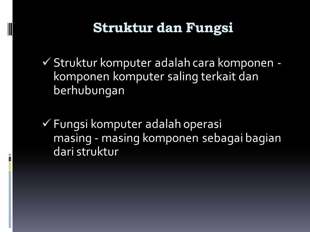 Struktur Utama Komputer Computer Main Memory Input Output Systems Interconnection Peripherals Communication lines Central Processing Unit Computer