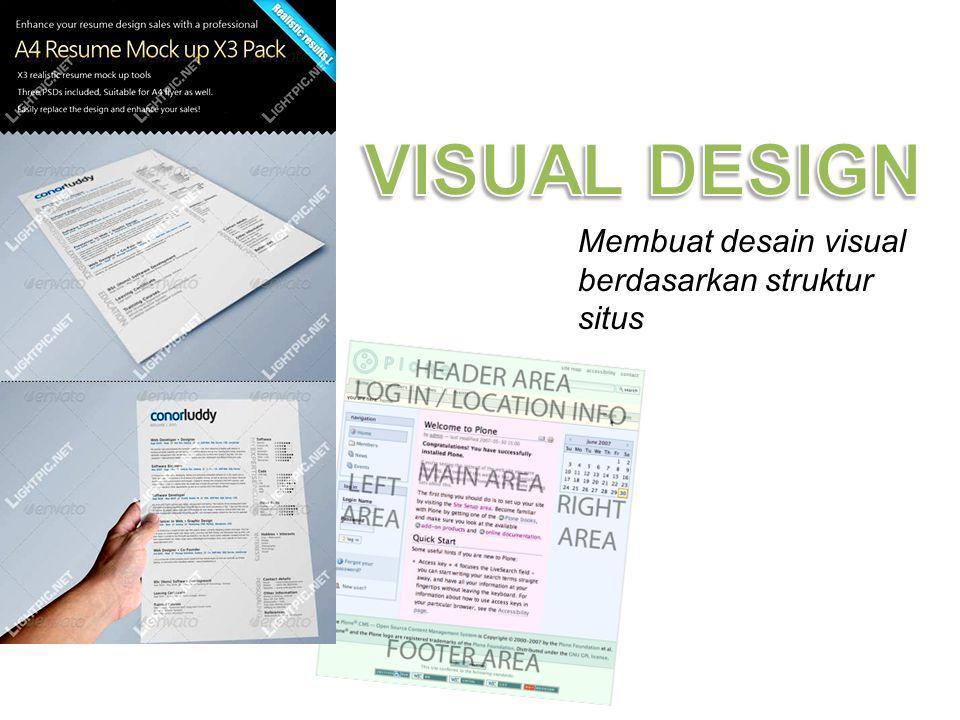 Membuat desain visual berdasarkan struktur situs