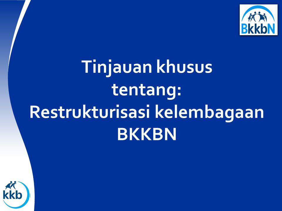 Tinjauan khusus tentang: Restrukturisasi kelembagaan BKKBN