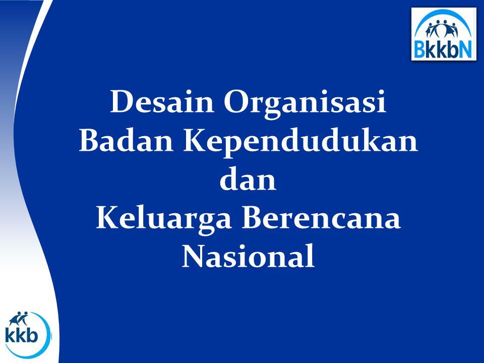 Desain Organisasi Badan Kependudukan dan Keluarga Berencana Nasional