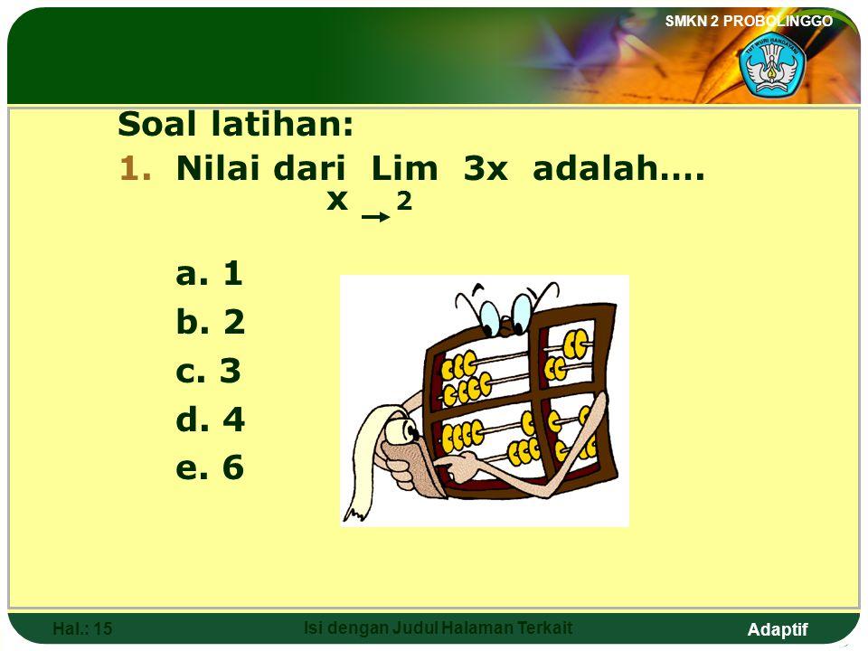 Adaptif SMKN 2 PROBOLINGGO Hal.: 14 Isi dengan Judul Halaman Terkait 5. 6.