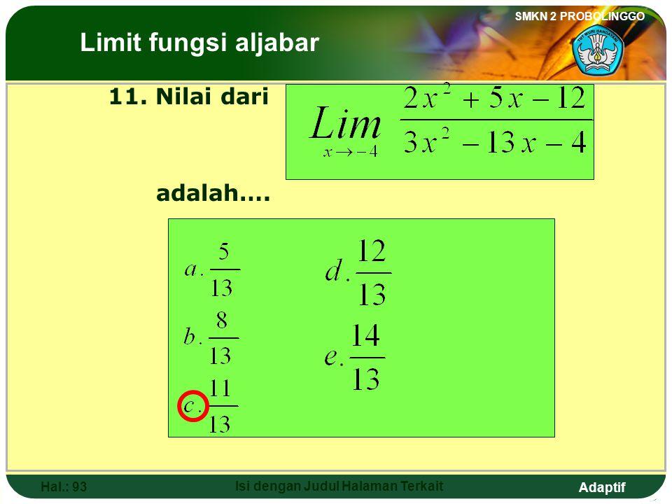 Adaptif SMKN 2 PROBOLINGGO Hal.: 92 Isi dengan Judul Halaman Terkait Discussion: The Limits of Algebraic Functions