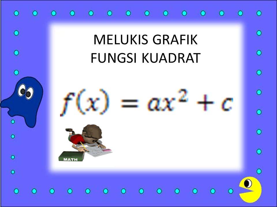 MELUKIS GRAFIK FUNGSI KUADRAT