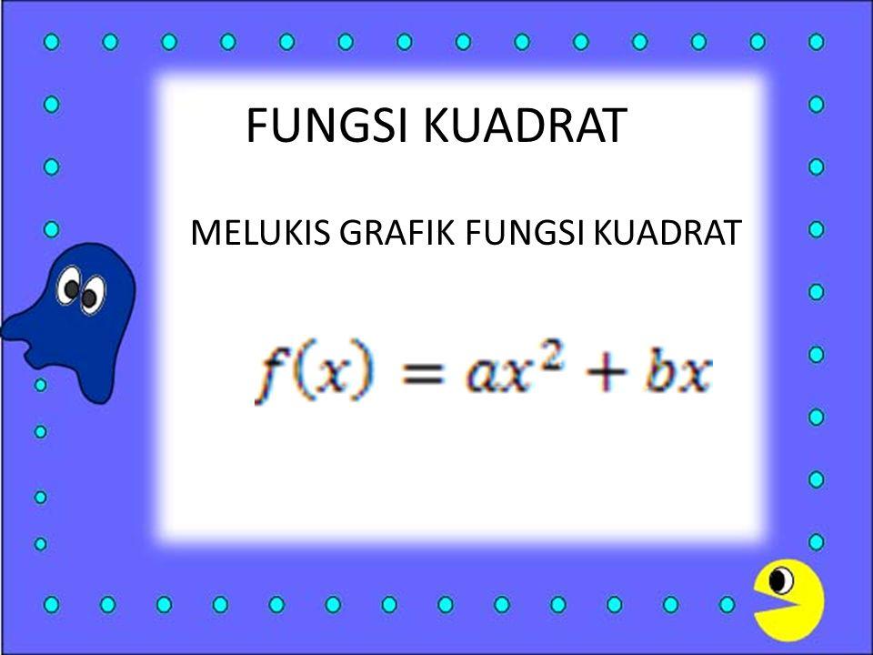 FUNGSI KUADRAT MELUKIS GRAFIK FUNGSI KUADRAT