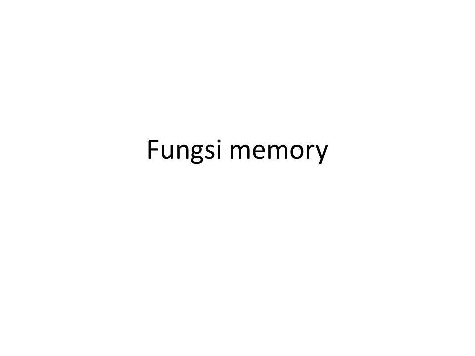 Fungsi memory