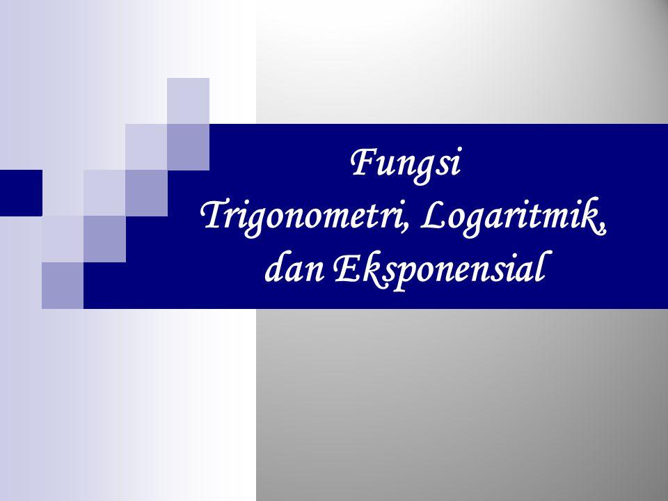 Fungsi Trigonometri, Logaritmik, dan Eksponensial