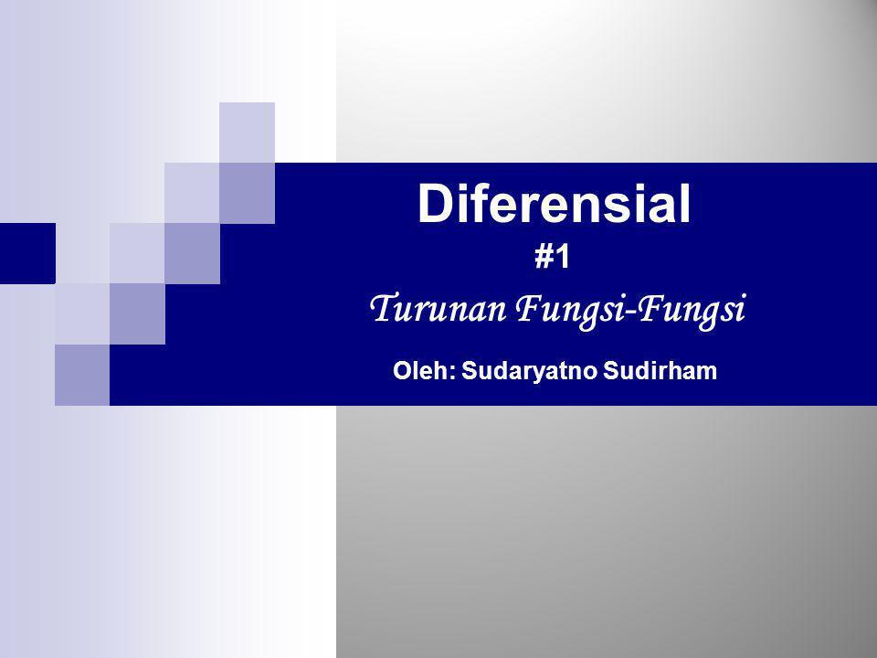 Cakupan Bahasan  Turunan Fungsi-Fungsi Mononom.Polinom.