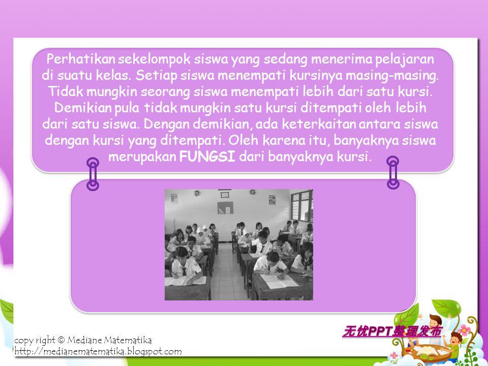 Perhatikan sekelompok siswa yang sedang menerima pelajaran di suatu kelas.