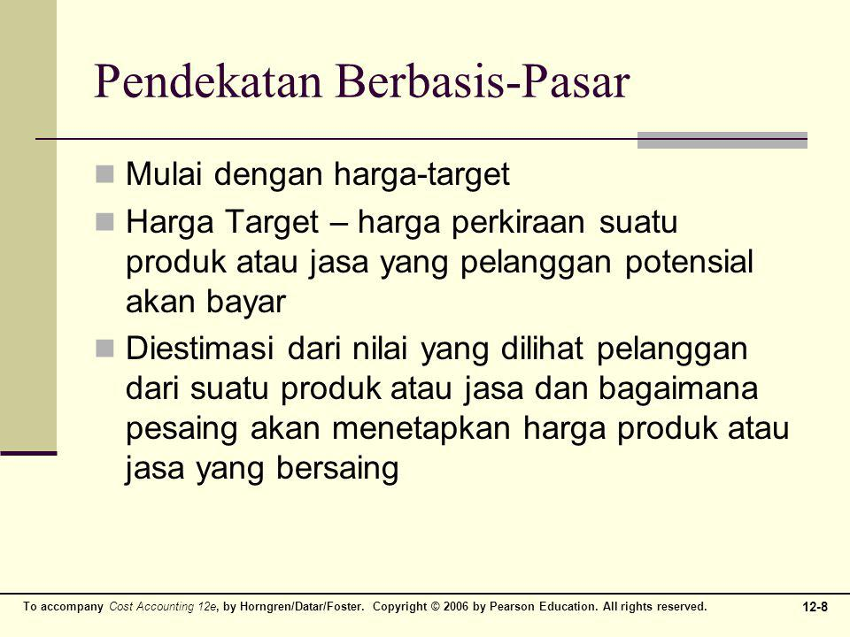 12-8 To accompany Cost Accounting 12e, by Horngren/Datar/Foster. Copyright © 2006 by Pearson Education. All rights reserved. Pendekatan Berbasis-Pasar