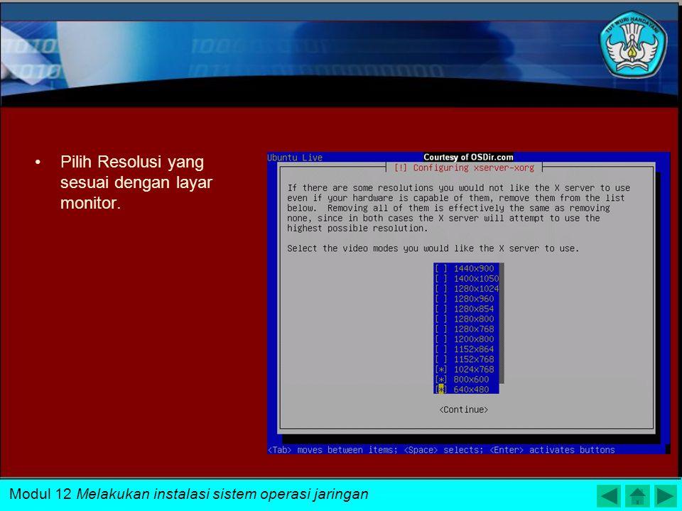 Tentukan hostname untuk mengidentifikasi komputer pada jaringan Modul 12 Melakukan instalasi sistem operasi jaringan