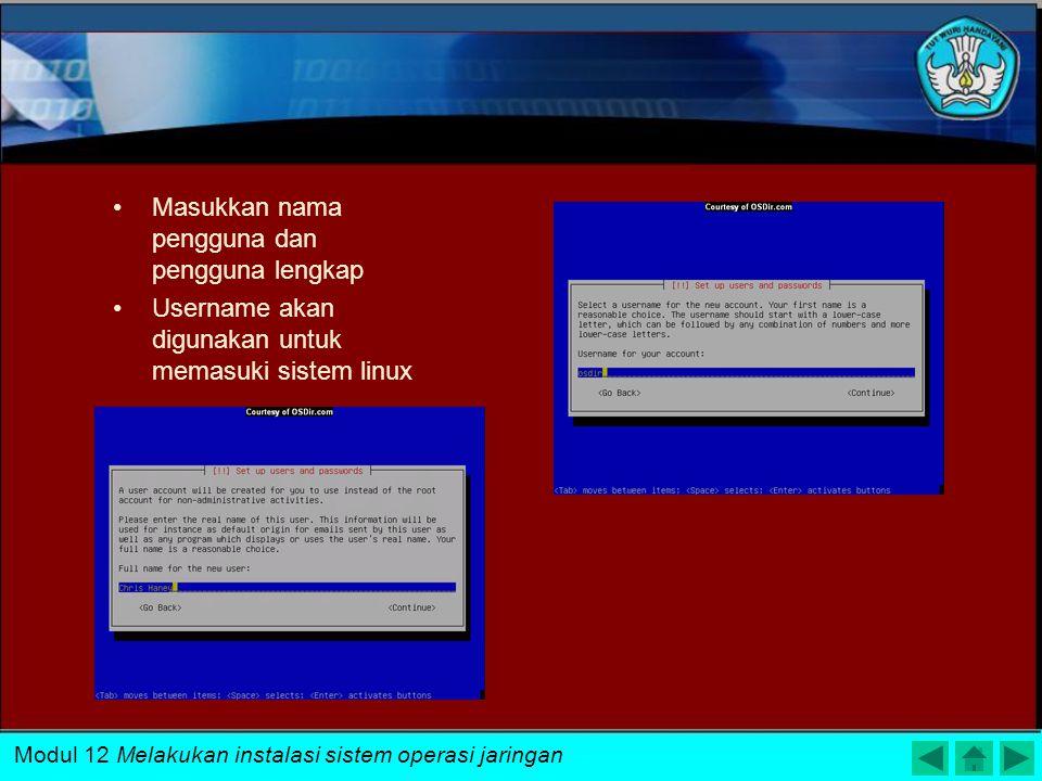 Ubuntu memeriksa IDE Harddisk yang akan digunakan Harddisk akan memberikan informasi partisi dengan label dan ukuran Kemudian Pilih Format hardisk unt