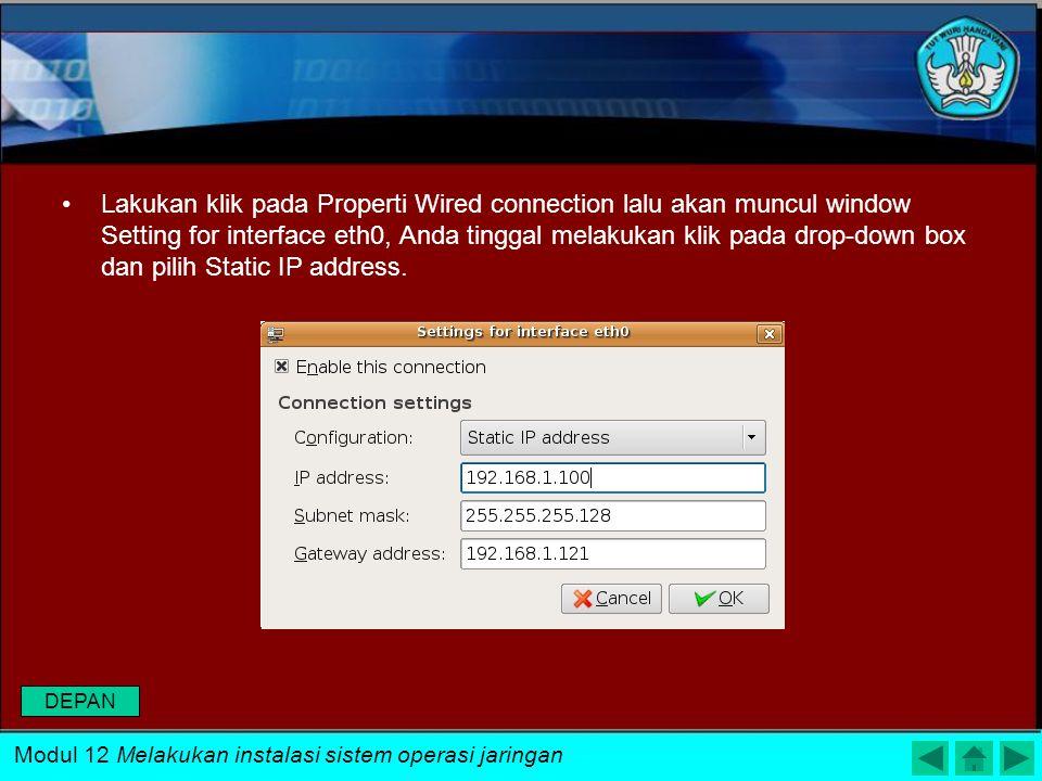 ada saat menginstall Linux Ubuntu IP yang digunakan menggunakan DHCP, berikut ini cara merubah setting IP pada Ubuntu yang masih menggunakan DHCP ke S