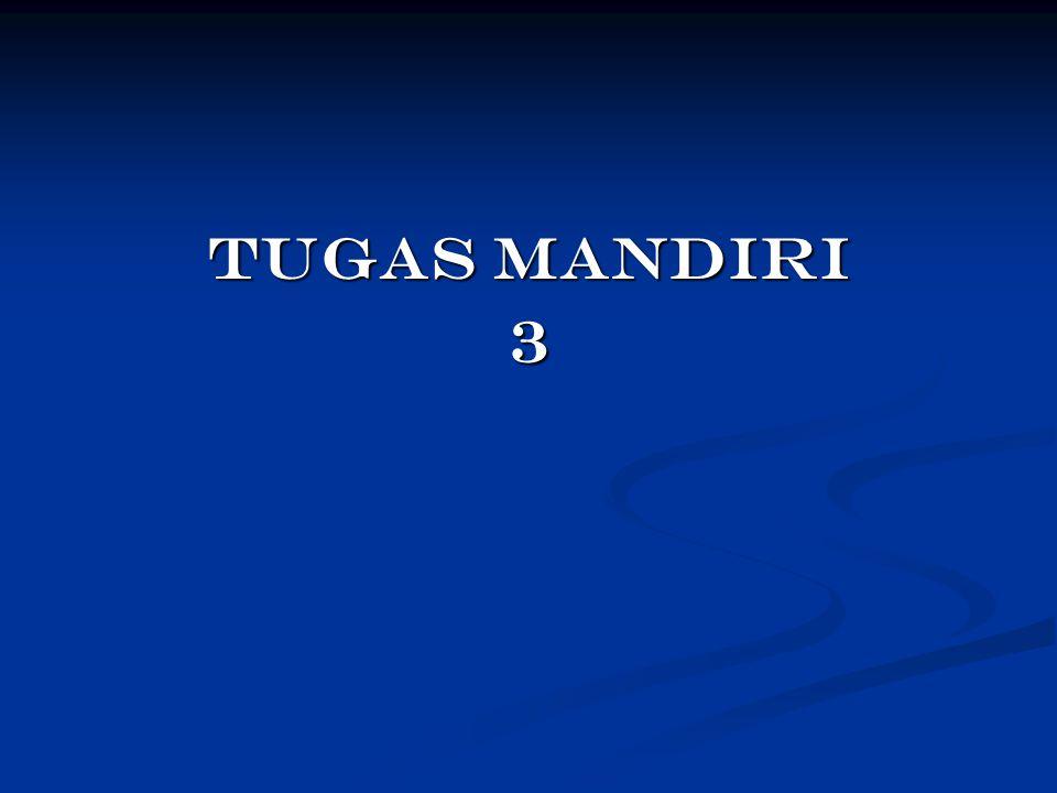 TUGAS MANDIRI 3