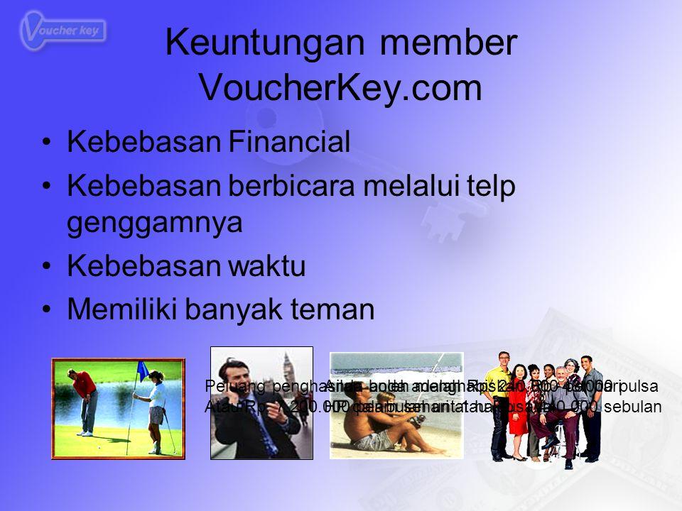 Perusahaan VoucherKey.com  Untung Member VoucherKey.com  Untung Siapa yang dirugikan ??.