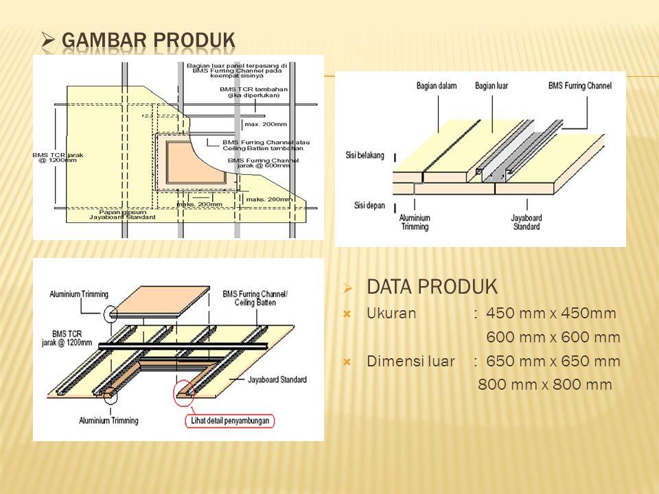  DATA PRODUK  Ukuran: 450 mm x 450mm 600 mm x 600 mm  Dimensi luar: 650 mm x 650 mm 800 mm x 800 mm