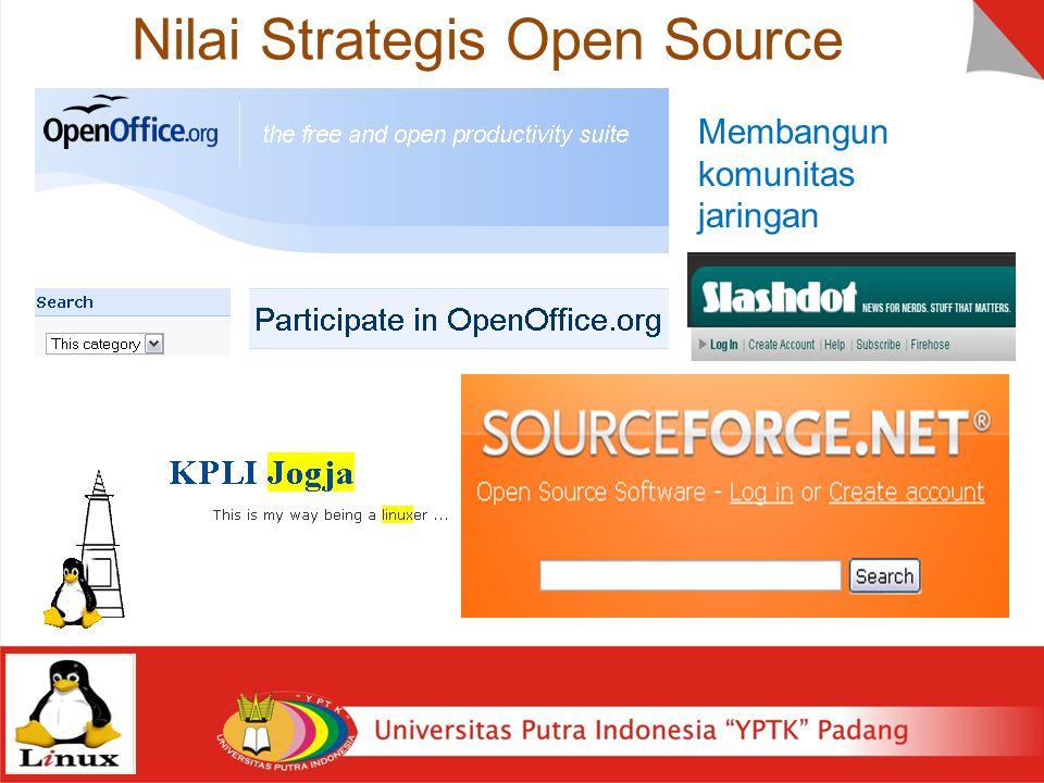 Nilai Strategis Open Source Membangun komunitas jaringan