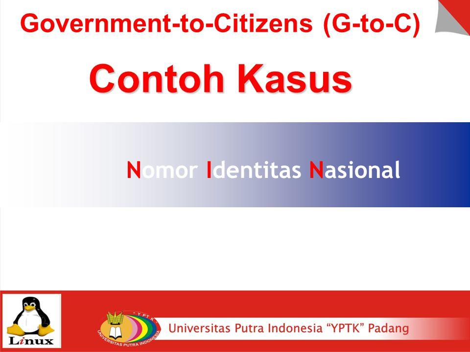 Nomor Identitas Nasional Government-to-Citizens (G-to-C) Contoh Kasus