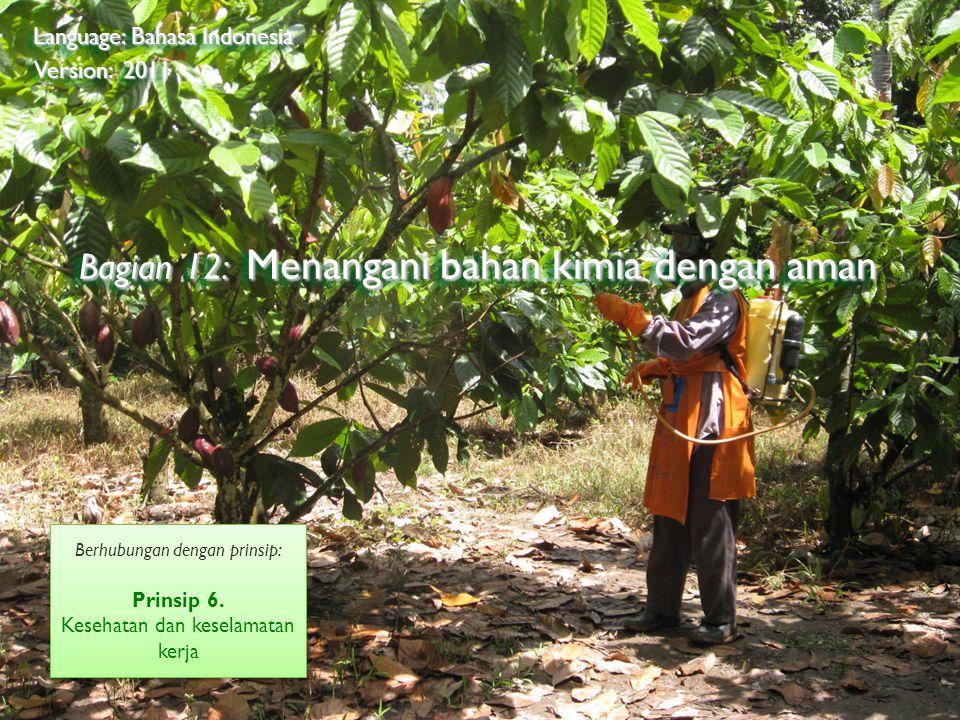 ©2009 Rainforest Alliance Bagian 12: Menangani bahan kimia dengan aman Language: Bahasa Indonesia Version: 2011 Berhubungan dengan prinsip: Prinsip 6.