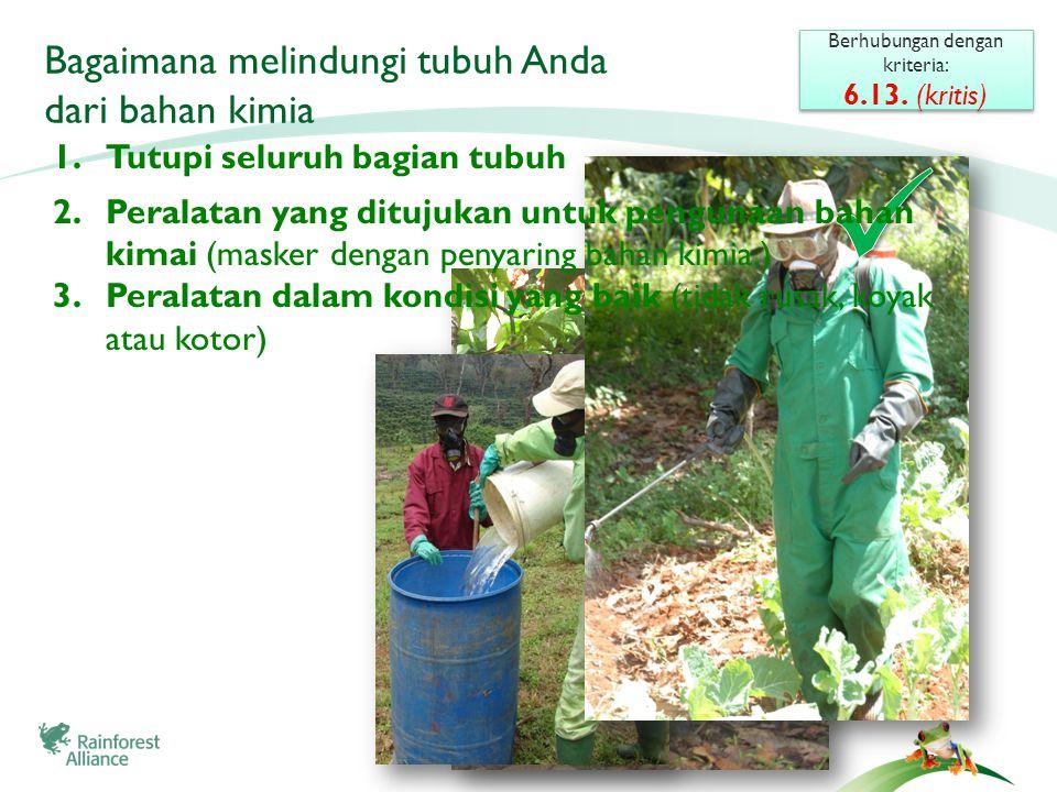 ©2009 Rainforest Alliance Bagaimana melindungi tubuh Anda dari bahan kimia Berhubungan dengan kriteria: 6.13.